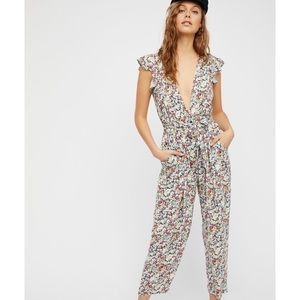 Floral Free People Jumpsuit Size XS